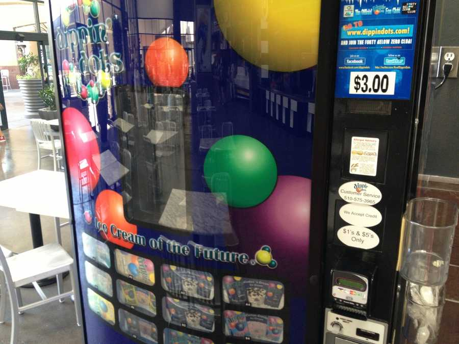 Even this Dippin' Dots ice cream vending machine was out of service due to the power outage, potentially causing the ice inside to melt (Aug. 5, 2013).