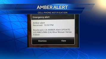 Californians with WEA-enabled cellphones received a statewide Amber Alert just before 11 p.m. Monday. It was the first alert sent to Californians using the Wireless Emergency Alert program, which went into effect Jan. 1, 2013. Click through this slideshow to learn how to toggle emergency alerts on/off on your smartphone.