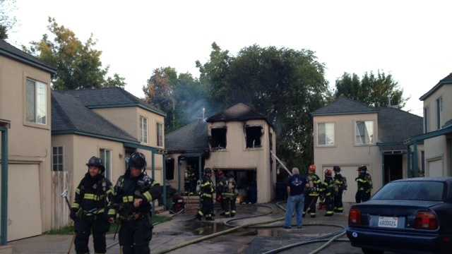 A cigarette that started a mattress fire is to blame for a townhouse fire in Sacramento on Sunday, investigators said.