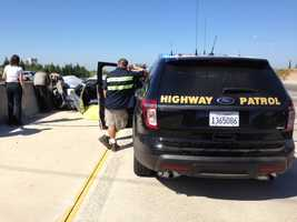A man was killed Monday morning in a multiple-vehicle car crash after witnesses said he began drifting across lanes on Highway 50.