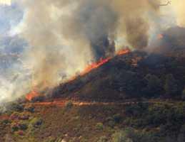 The Bridges Fire burned 46 acres near New Melones Lake.