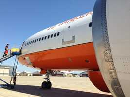A DC10 arrives after fighting the Rim Fire.