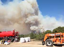 The wildfire outside Yosemite National Park grew to 105,620 acres, officials said Friday morning.