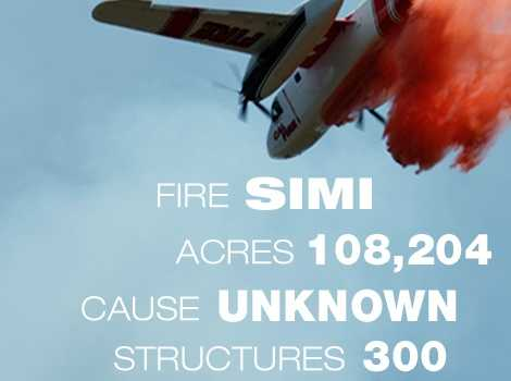 16. The Simi Fire in Venture County burned through 108,204 acres in October 2003.
