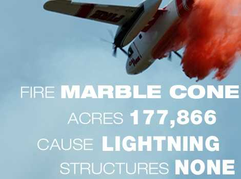 6. The Marble Cone Fire in Monterey County burned through 177,899 acres in July 1977.