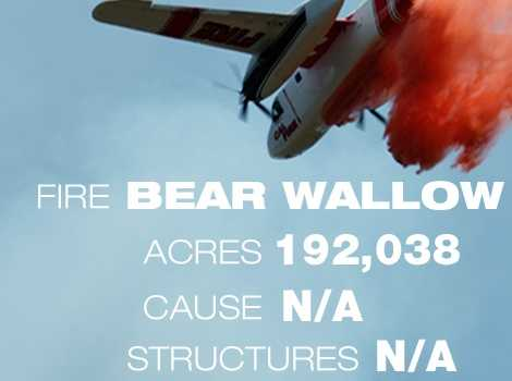 3. The Bear Wallow Fire in Siskiyou County burned through 192,038 acres.
