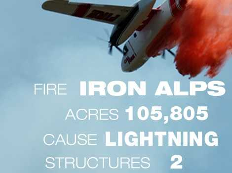 18. The Iron Alps Complex Fire in Trinity County burned through 105,805 acres in June 2008. Ten people were killed.