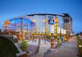 Design for the outside of Time Warner Cable Arena in Charlotte, NC