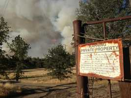 Crews were finally gaining ground by late Monday on a massive wildfire burning near Yosemite National Park.