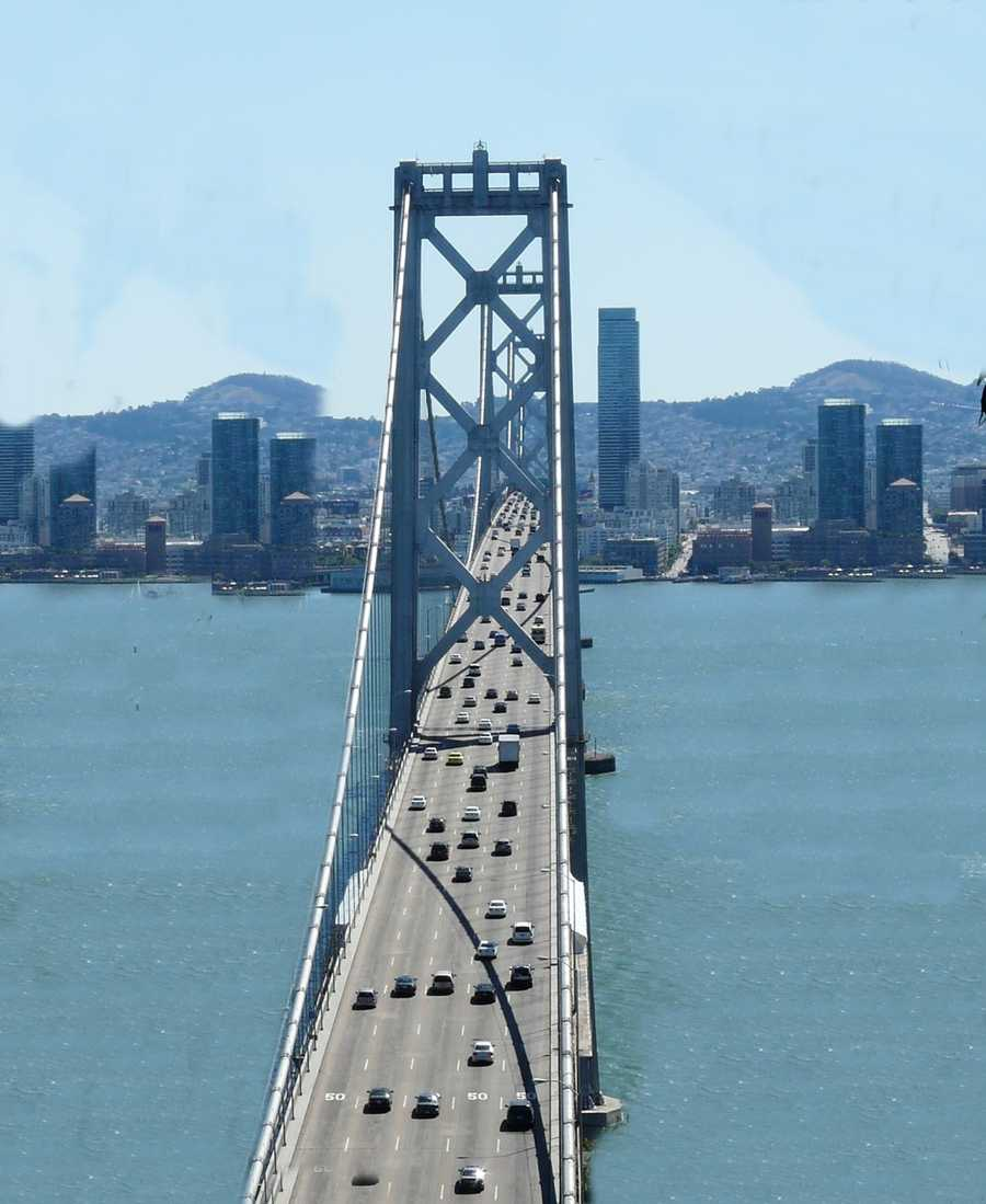 The longest section of the new bridge is 1.2-miles long and dramatically changes the driver's experience of the bay.