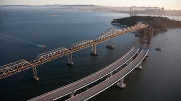 When construction of the new east span is complete and vehicles have been rerouted, the original east span will be demolished.
