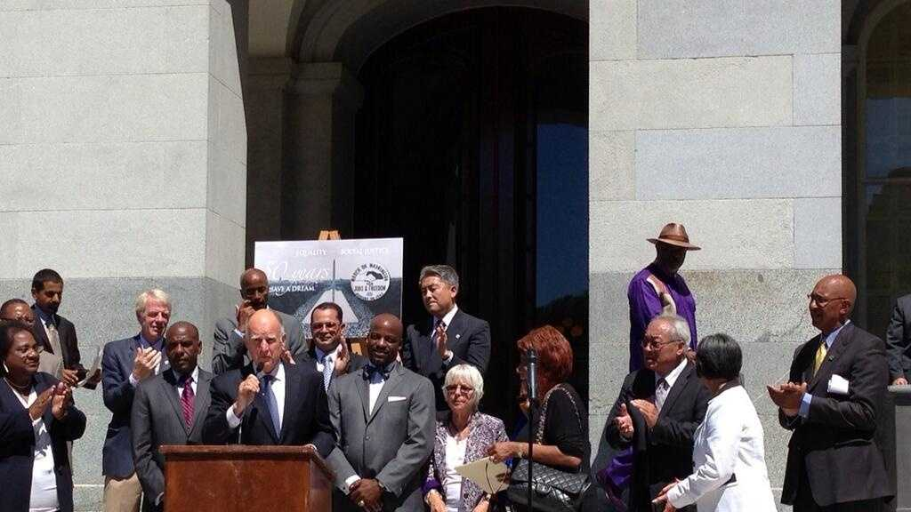 Gov Brown reflects on his involvement in the Civil Rights Movement in 1963 (Aug. 28, 2013).
