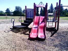 The school district must still pay a $25,000 deductible for each of the two playground structures.