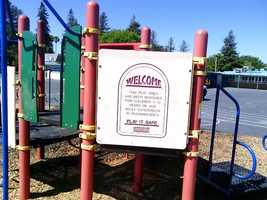 Local city and education officials kicked off the first day of class Tuesday with a fundraiser to help rebuild playgrounds targeted in Sacramento arson attacks.
