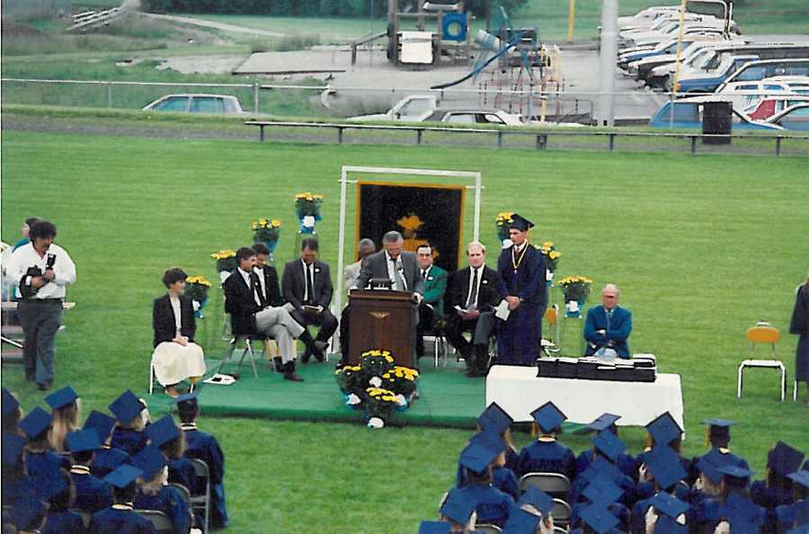 10. I spoke at my high school graduation, but I was NOT even close to being the valedictorian.