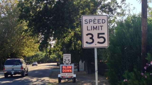 Stockton speed limit signage
