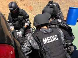 Tactical medics attend every SWAT training session.