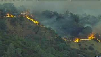 The blaze in Mt. Diablo State Park in Contra Costa County has burned 1,500 acres as of Monday morning, up from about 800 acres the previous day when it broke out.