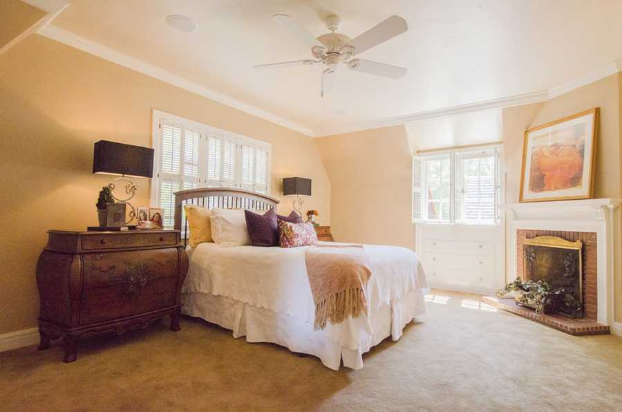 Here's a look inside one of the four bedrooms inside the home.