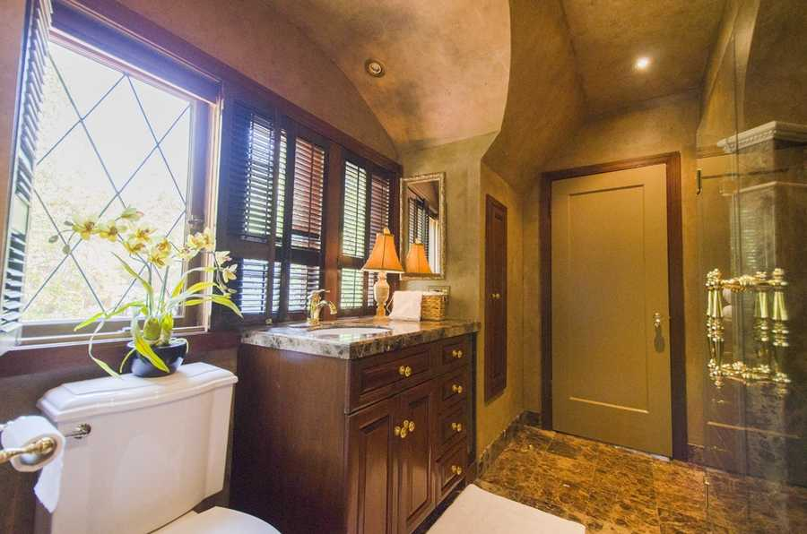 The home has five full bathrooms.