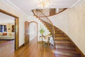 Here's a staircase inside the four-bedroom east Sacramento home in the Fabulous 40s neighborhood.