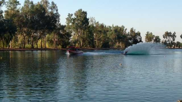 Water skiing at Bell Acqua