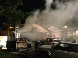 An Elk Grove family is thankful to be safe after escaping a fire that destroyed the garage of their home.