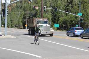 The 112-mile bike course covers the Resort triangle. It takes riders to Tahoe City, through the Truckee River corridor, following the Truckee River past Squaw Valley and into the town of Truckee.