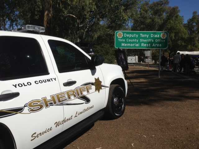 A fallen deputy of the Yolo County Sheriff's Department was honored Friday with the naming of a rest area in his honor.