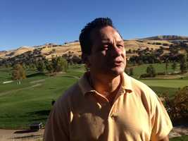 """Tony """"The Tiger"""" Lopez, a former boxing champion, came out to support the fallen CHP officers at the golf tournament. """"This is my way of saying thank you very much,"""" said Lopez."""