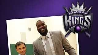 Chris Kelly, who is part of the Sacramento Kings ownership group, uploaded the following photo of Shaquille O' Neal with majority owner Vivek Ranadive.
