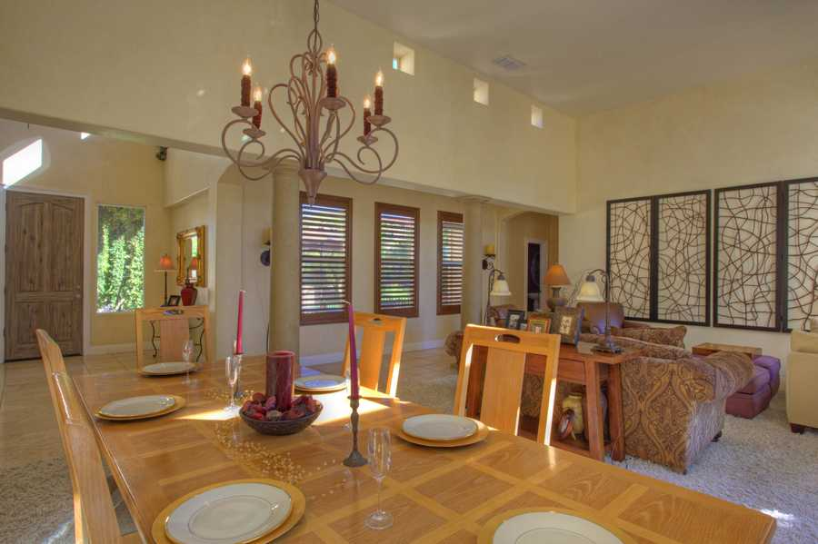This home has richly appointed living and dining rooms.