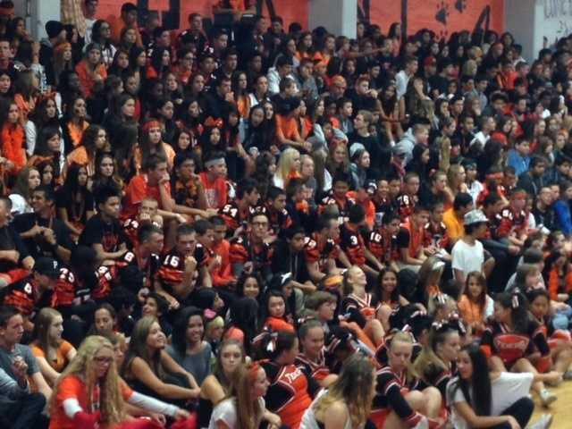 Roseville's bleachers were packed at their homecoming football game against Casa Roble.
