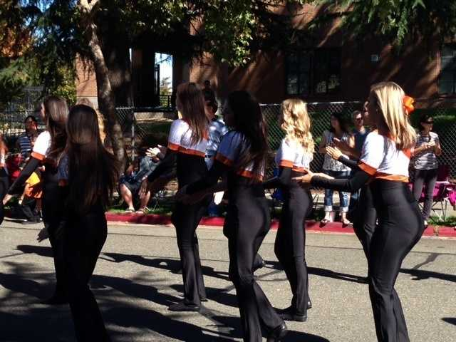 RHS's dance team strutted their way down Roseville's street in the homecoming parade.