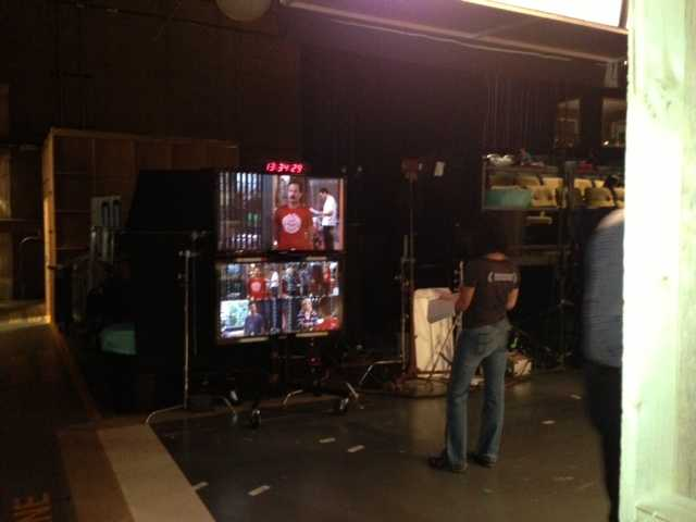 """Check out this behind-the-scenes moment on the set of """"Sean Saves the World."""""""