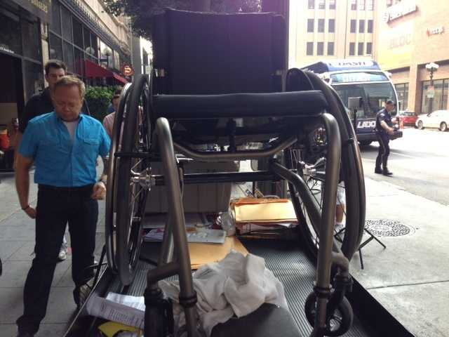 """Here's a look at the """"Ironside"""" set on location in downtown Los Angeles."""