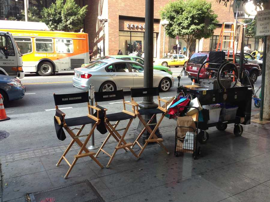 """Lisa Gonzales is on the remote set for the show, """"Ironside."""""""