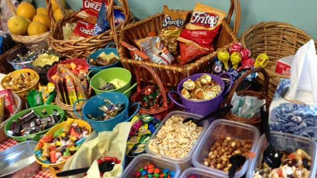"This smorgasbord of snacks was found on the set of  ""The Biggest Loser"" ranch in Calabasas -- but it was just for crew members."