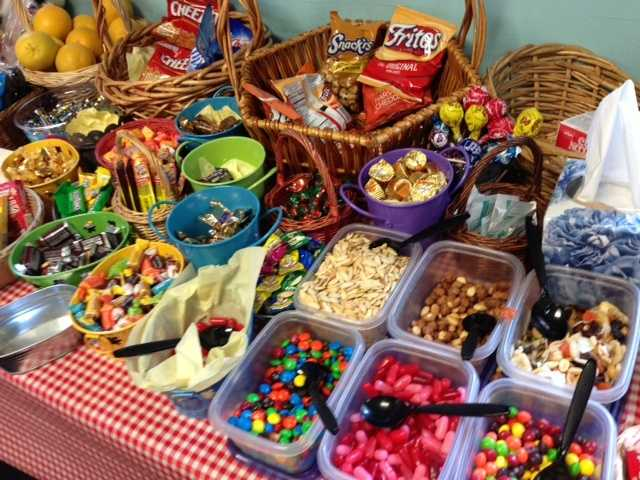 """This smorgasbord of snacks was found on the set of""""The Biggest Loser"""" ranch in Calabasas -- but it was just for crew members."""