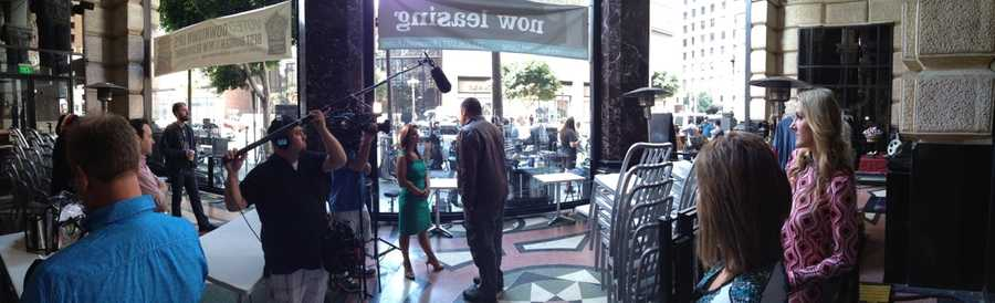 Lisa Gonzales conducts interviews in Universal City.