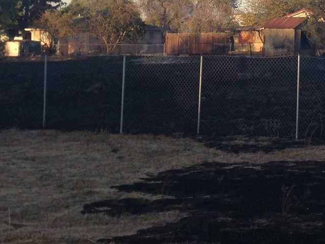 Embers from a fire at a Stockton recycling center are being blamed for starting a house fire more than a mile away.