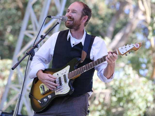 Jake Bellows performs at Hardly Strictly Bluegrass in San Francisco's Golden Gate Park on Friday, Oct. 4.