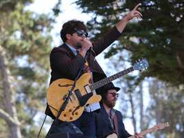 Jesse Dee performs at Hardly Strictly Bluegrass in San Francisco's Golden Gate Park on Friday, Oct. 4.
