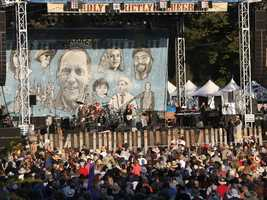 A huge crowd turned out to see Bonnie Raitt at Hardly Strictly Bluegrass in San Francisco's Golden Gate Park on Friday, Oct. 4.
