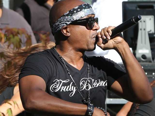 MC Hammer puts on a special show for middle school students at Hardly Strictly Bluegrass in San Francisco's Golden Gate Park on Friday, Oct. 4.