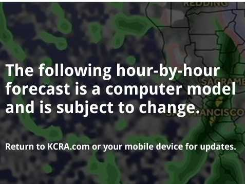 Flurries of snow began to fall in the Sierra Wednesday morning. Get a 24-hour glimpse of the winter-like activity with FutureCast.