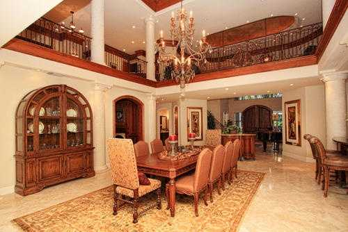 Your guests will love this dining and grand room area.