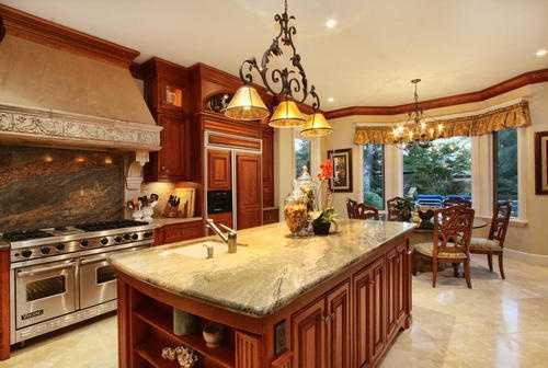 This kitchen features all the amenities needed to serve the perfect meal.