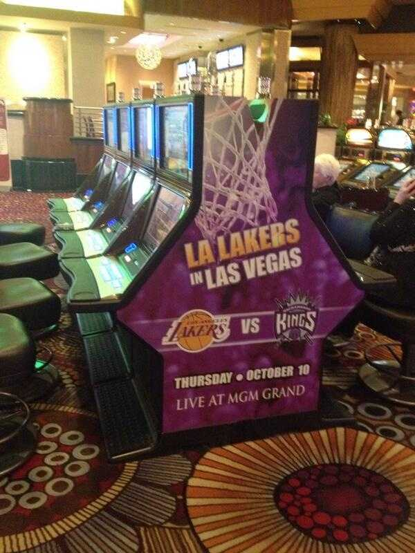 Promotion for Thursday's Kings-Lakers preseason game at the MGM Grand Casino.