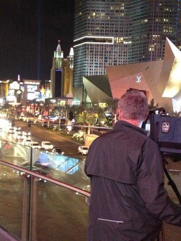 KCRA photographer Mike Rhinehart shoots video of the Las Vegas strip.